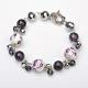 Bracelet Perles Porcelaine et Verre